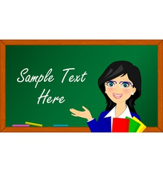 Llustration of teacher in class vector