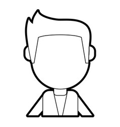 man cartoon isolated casual vector image