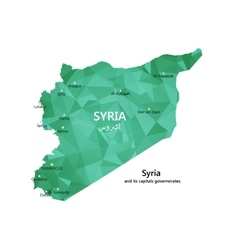 map syria vector image