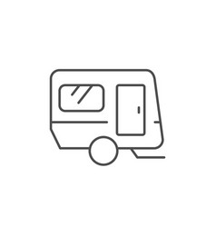 mobile home trailer line outline icon vector image