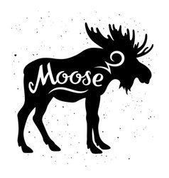 Moose silhouette 002 vector