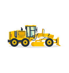 motor grader commercial vehicles construction vector image