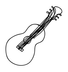 Musical guitar instrument icon vector