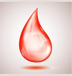one big red drop vector image
