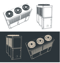Outdoor unit of industrial air conditioner vector