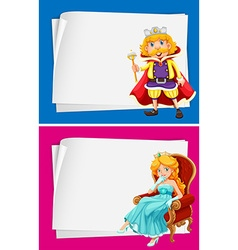 Paper design with king and queen vector image
