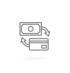 Payment exchange icon vector