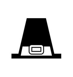pilgrim hat classic accessory thanksgiving symbol vector image