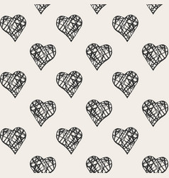 Print with hearts vector