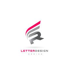 R letter logo design futuristic modern lettering vector