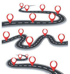 Road map information symbols vector