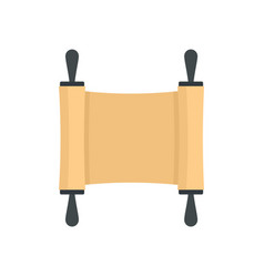 rolled papyrus from ancient icon flat style vector image