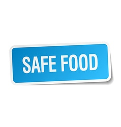 Safe food blue square sticker isolated on white vector
