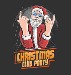 Santa claus christmas night club dance dj party ar vector