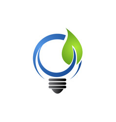 save energy eco concept icon for green ecology vector image