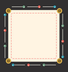 Sewing accessories frame buttons and pins vector
