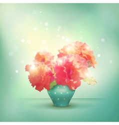 Shining flowers roses in vase vector image