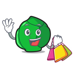shopping brussels character cartoon style vector image