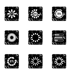 Sign download icons set grunge style vector