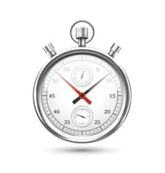 Silver Stopwatch Graphic Hovering on White vector
