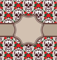 Skull pattern design vector