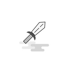 sword web icon flat line filled gray icon vector image