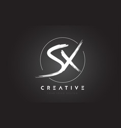 sx brush letter logo design artistic handwritten vector image