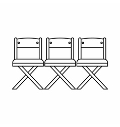 Theater chairs icon outline style vector image