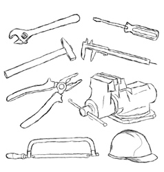 Tools set vector
