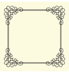 Twirl Vintage Frame vector