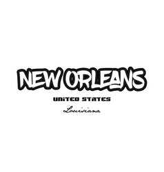 united states new orleans louisiana city vector image