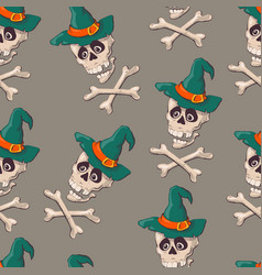vintage skulls pattern template for your vector image