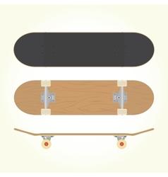 Wood blank skateboard vector image