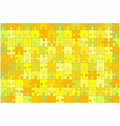 yellow grunge puzzle background vector image