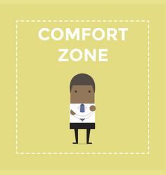 african businessman standing in comfort zone vector image vector image