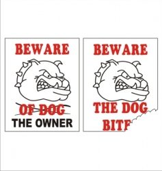 beware of the dog vector image