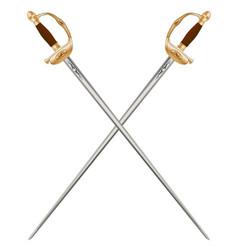 Crossed infantry swords vector