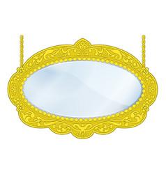 fancy boutique mirror vector image
