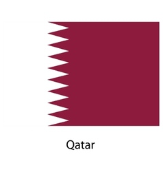 Flag of the country qatar vector image vector image