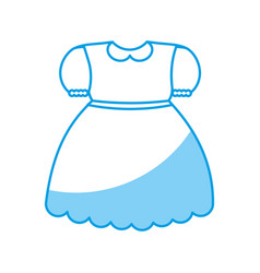 girl dress icon vector image vector image
