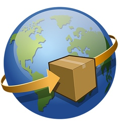 Global Shipping vector image vector image