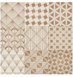 seamless geometric gold pattern vector image vector image