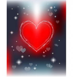 shiny valentines day greeting card vector image vector image