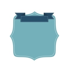 blue badge icon vector image vector image