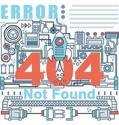 Infographics elements concept of 404 Error vector image vector image