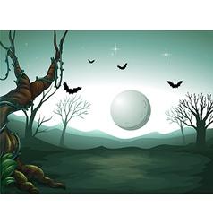 Night Graveyard Scene vector image vector image