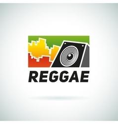Reggae music equalizer sound logo emblem vector image vector image