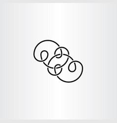 black knot infinity symbol vector image