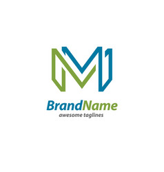 creative letter m logo vector image vector image