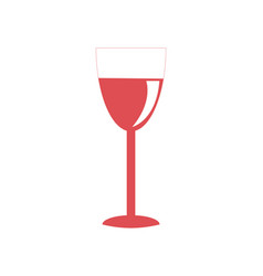glass red wine icon on white vector image vector image